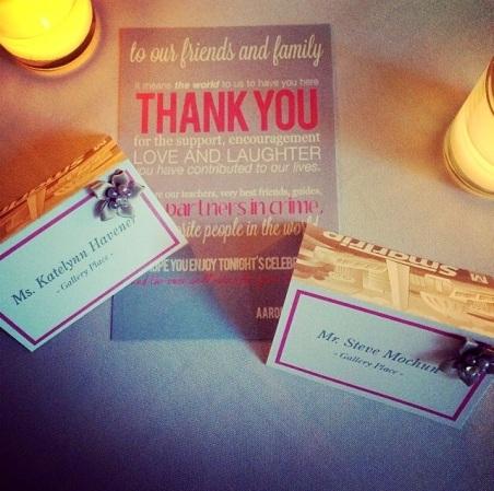 Another shot of the place cards!